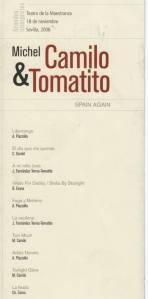 Michel Camilo y Tomatito. Repertorio del concierto